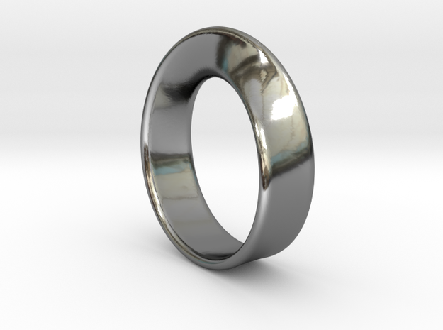 Moebius Ring 15.7 in Fine Detail Polished Silver