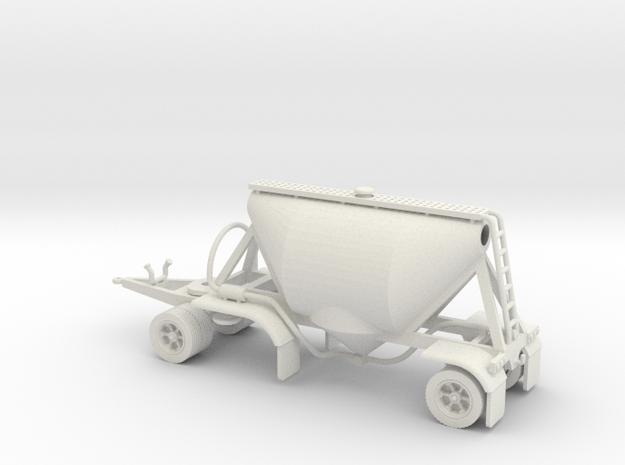 S-scale 1/64 Shorty Dry Bulk Trailer 07a in White Natural Versatile Plastic