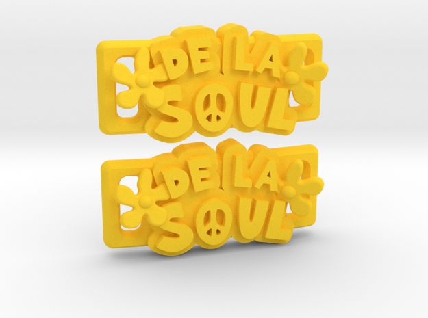 """De La Soul"" Lacelocks (1 pair) in Yellow Processed Versatile Plastic"