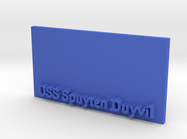 Base for 1/600 USS Spuyten Duyvil in Blue Processed Versatile Plastic