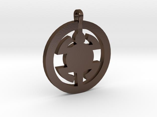 Turtle Pendant in Polished Bronze Steel