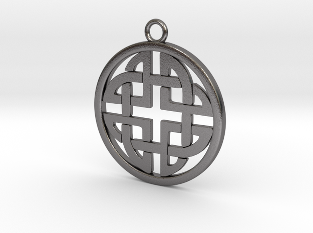 Celtic Pendant 4  in Polished Nickel Steel