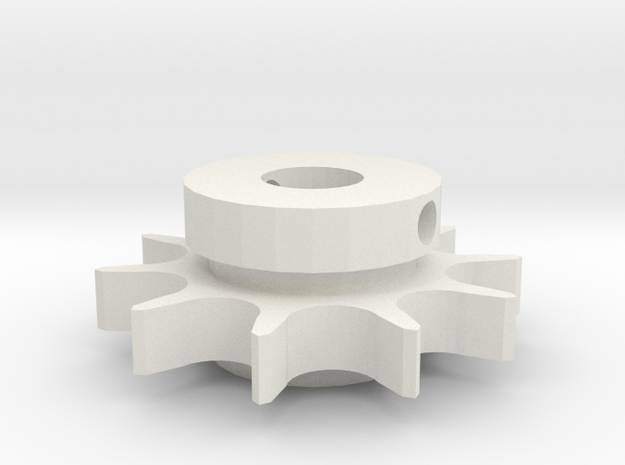 "10T #41 Sprocket (3/8"" bore) in White Strong & Flexible"