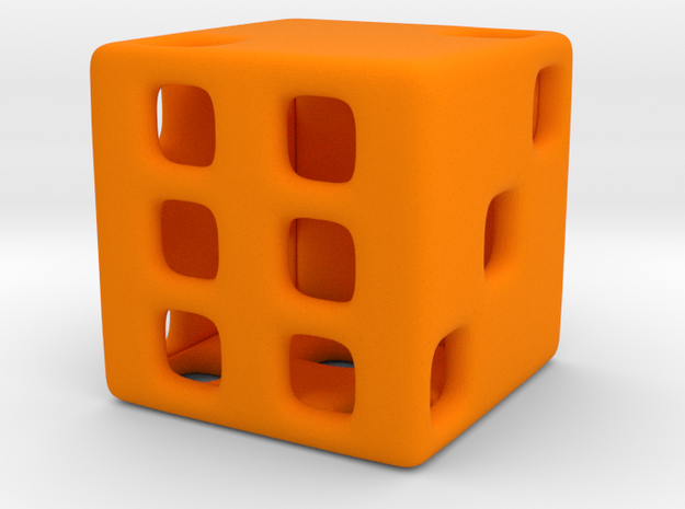 Hollow Die in Orange Processed Versatile Plastic