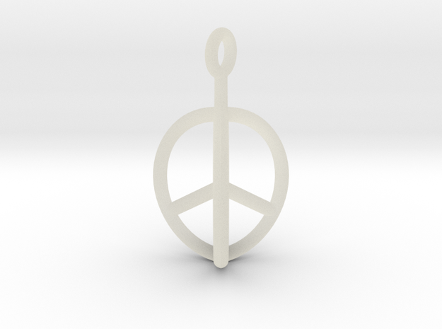 3D Peace Mark 3d printed