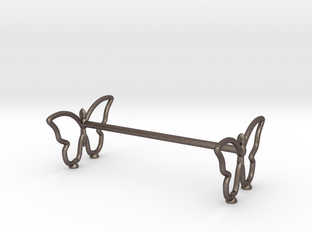 Supports For Flatware in Polished Bronzed Silver Steel