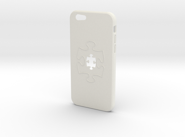 Iphone6 Puzzle in White Strong & Flexible