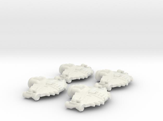 Alliance Bomber Wing in White Natural Versatile Plastic