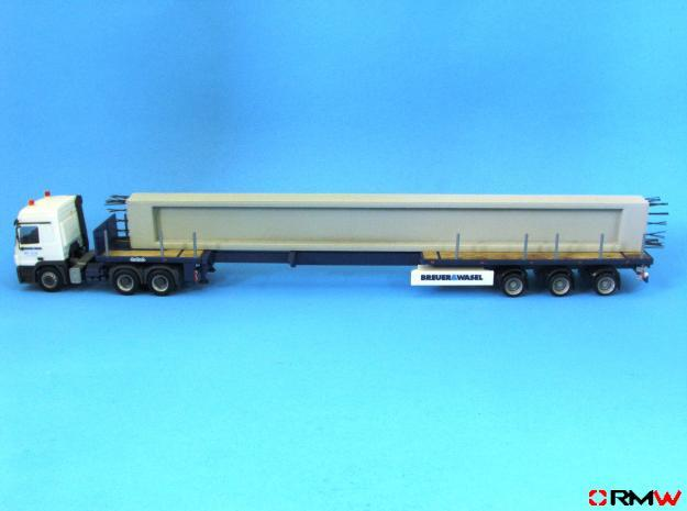 HO/1:87 Concrete Beam in White Strong & Flexible