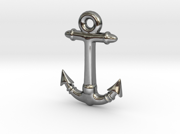 Anchor Pendant 2 in Premium Silver