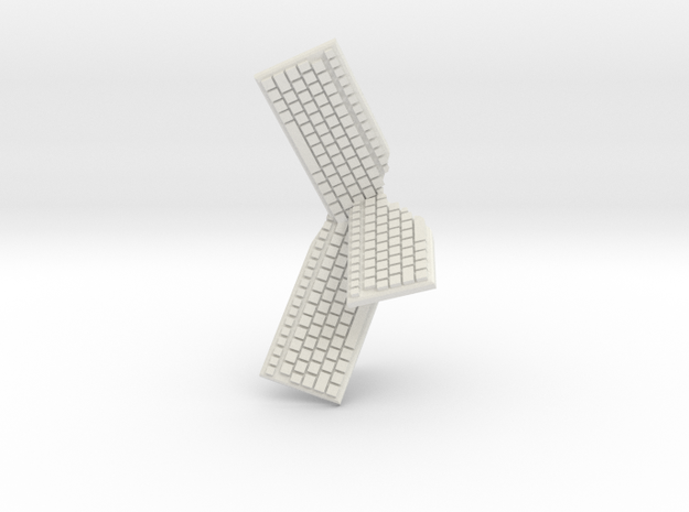 Cluster of Keyboards in White Natural Versatile Plastic