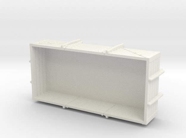 5 Planks Open Wagon in White Natural Versatile Plastic