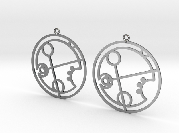 Brandi - Earrings - Series 1 in Fine Detail Polished Silver