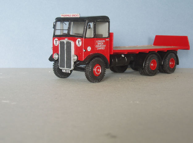 1:43 AEC c 1934 Mammoth Major  Cab & 6Whl Chassis 3d printed Flatbed body with tailboard fitted. Wheels, Tyres & transfers from Kingfisher Models