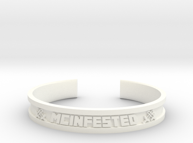 McBracelet (3.2 Inches) in White Strong & Flexible Polished