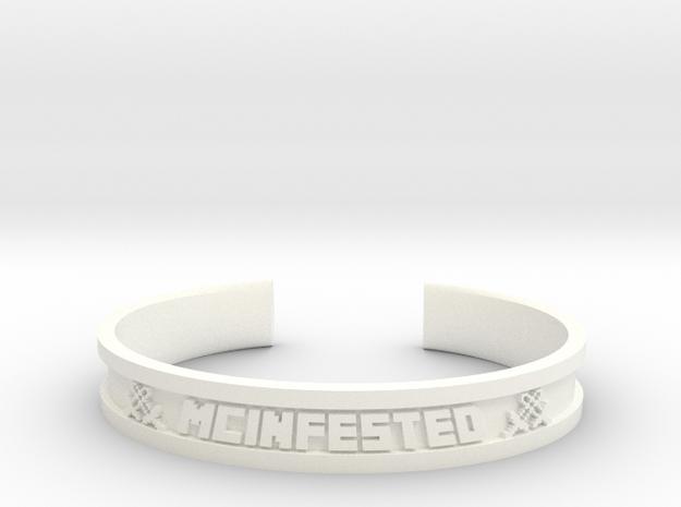 McBracelet (3.2 Inches) in White Processed Versatile Plastic