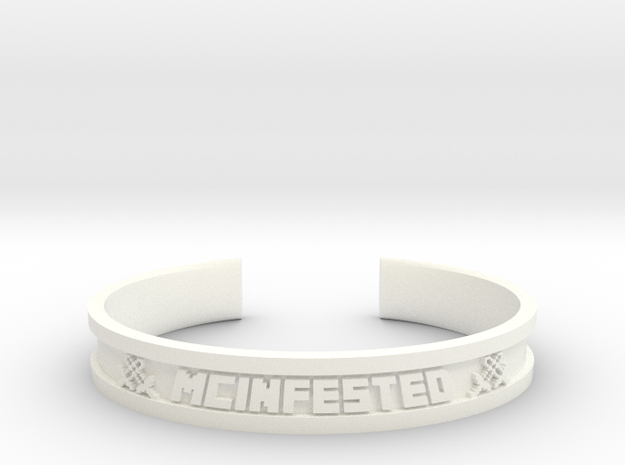 McBracelet (3.4 Inches) in White Strong & Flexible Polished