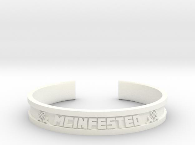 McBracelet (3.4 Inches) in White Processed Versatile Plastic
