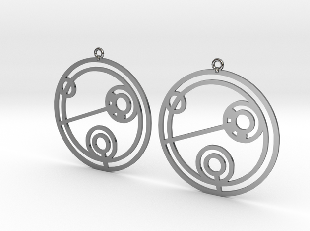 Julie - Earrings - Series 1 in Fine Detail Polished Silver