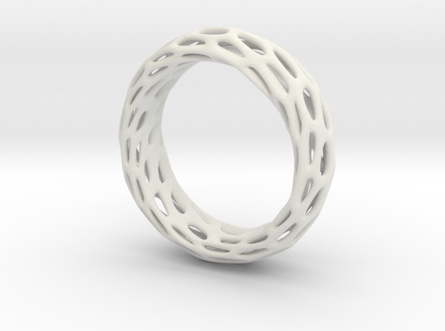 Trous Ring S10 in White Natural Versatile Plastic