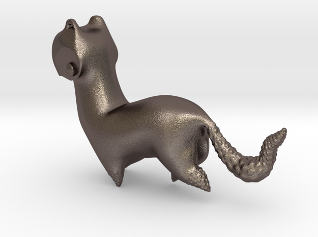 Stoat in Polished Bronzed Silver Steel