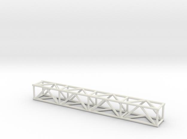 "8' 12""sq Box Truss 1:48 in White Natural Versatile Plastic"