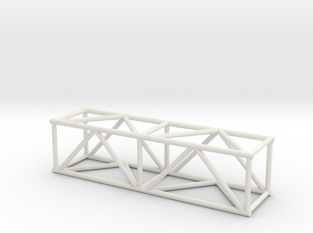 "5' 16""sq Box Truss 1:48 in White Natural Versatile Plastic"