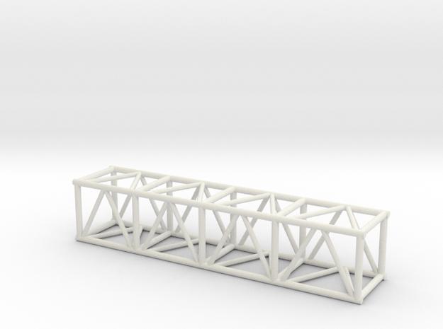 "8' 20.5"" Box Truss 1:48 in White Natural Versatile Plastic"