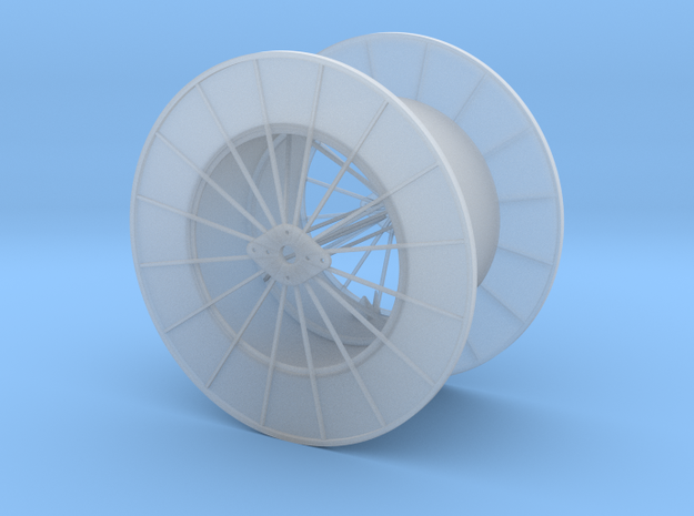 15ft Dia Hose Reel - HO Scale in Smooth Fine Detail Plastic