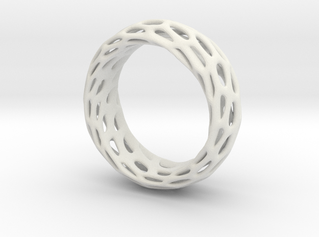 Trous Ring Size 6 in White Natural Versatile Plastic
