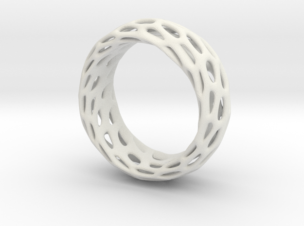 Trous Ring Size 4.5 in White Natural Versatile Plastic