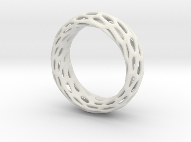 Trous Ring Size 8.5 in White Natural Versatile Plastic