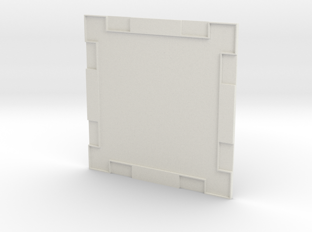 Wall 001a in White Natural Versatile Plastic