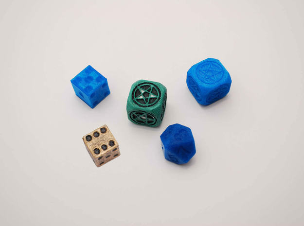 Mage's dice in Green Processed Versatile Plastic