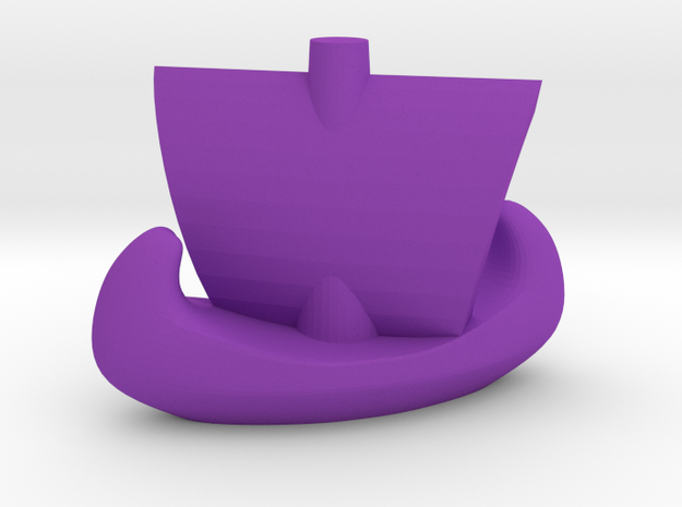 Catan Ship in Purple Processed Versatile Plastic
