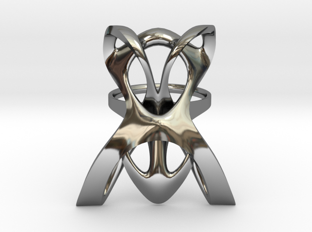 INTERLACE RING (US 7 / GER 55 / Ø inside 17,5 mm) in Fine Detail Polished Silver