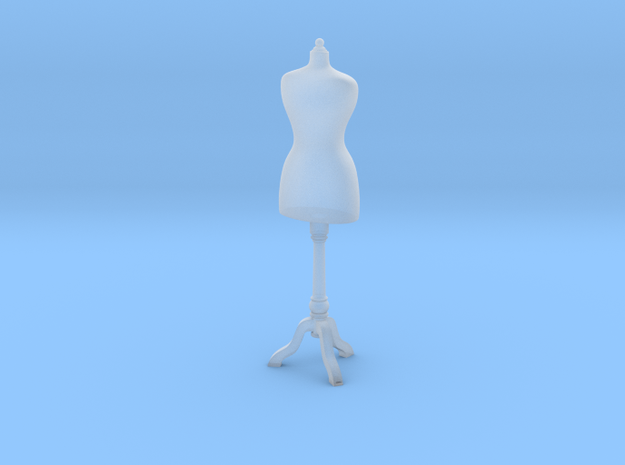 1:48 Dress Form in Smooth Fine Detail Plastic