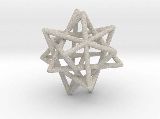 Tetrahedron 4 Compound, round struts in Natural Sandstone