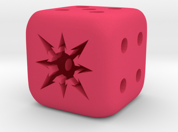 small chaos dice in Pink Processed Versatile Plastic