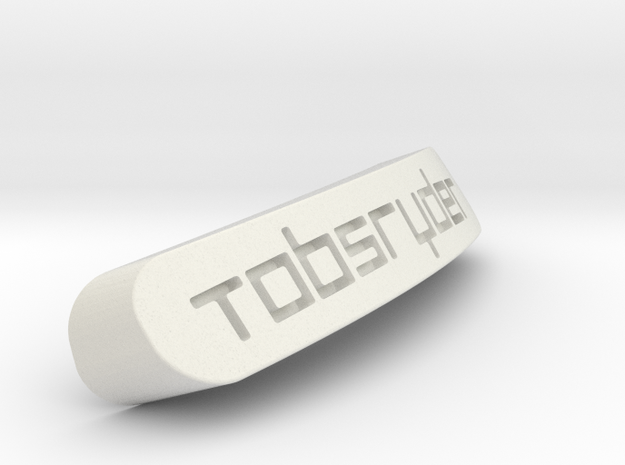 TobsRyder Nameplate for Steelseries Rival in White Strong & Flexible