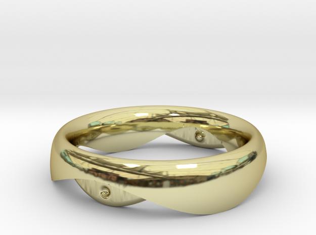 Swing Ring elliptical 17mm inner diameter in 18k Gold Plated