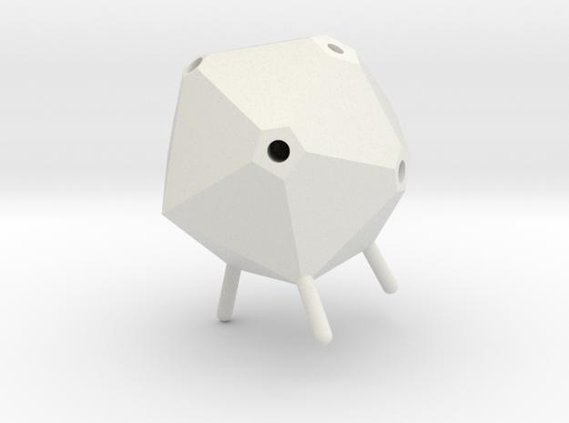 Icosahedron Pen Holder in White Natural Versatile Plastic