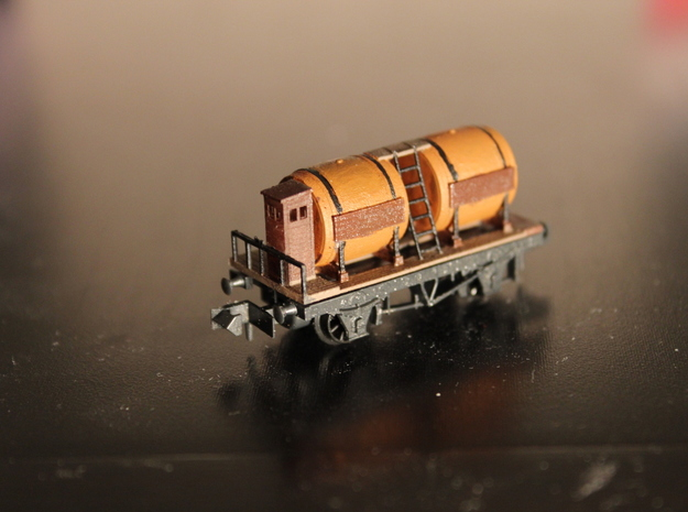 n-scale wine wagon in Frosted Ultra Detail
