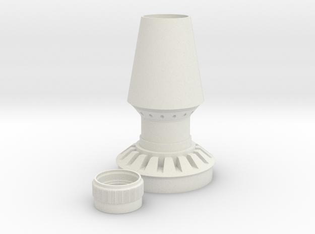 Jetpack Rocket Base And Collar in White Natural Versatile Plastic