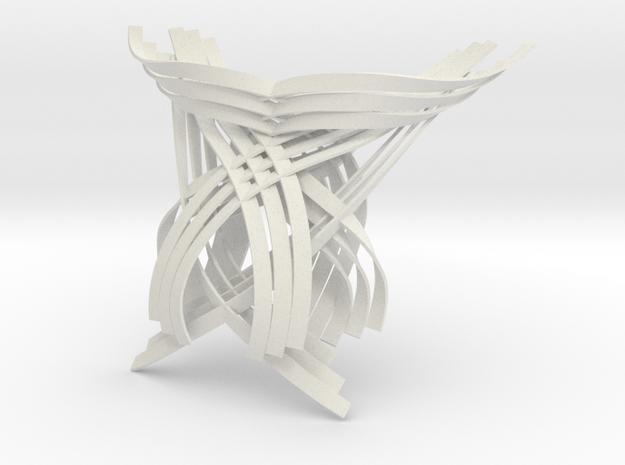 White Wave Pendant in White Natural Versatile Plastic
