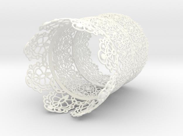 Marie Sleeve in White Processed Versatile Plastic