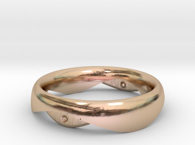 Swing Ring elliptical 18mm inner diameter in 14k Rose Gold Plated