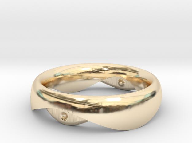 Swing Ring elliptical 16mm inner diameter in 14k Gold Plated