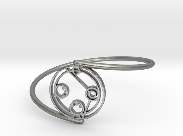 Daniel - Bracelet Thin Spiral in Natural Silver