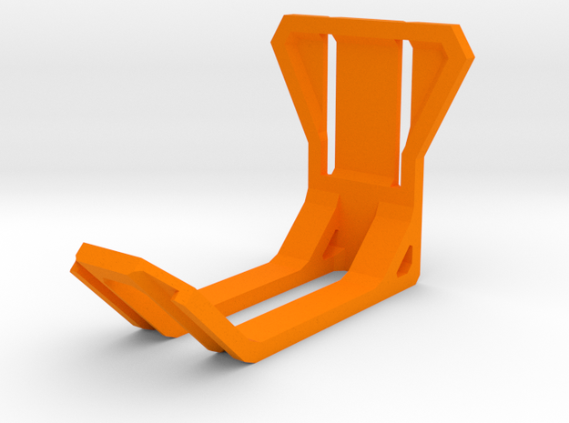 Headset Holder in Orange Processed Versatile Plastic